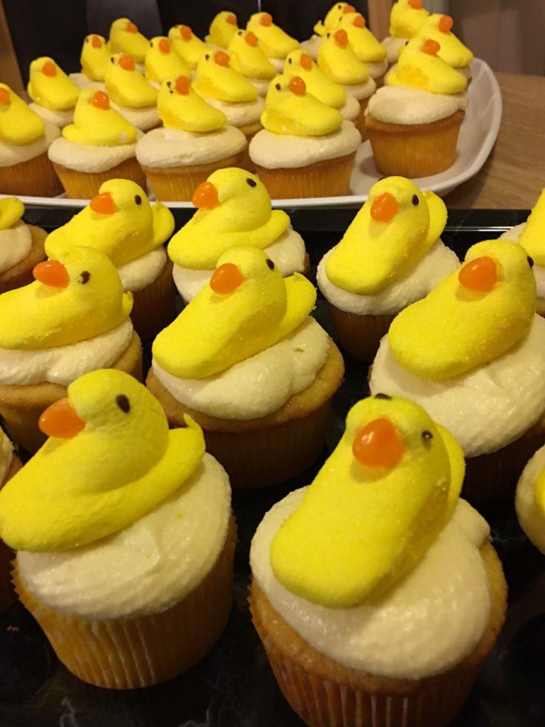 Duckling cupcakes
