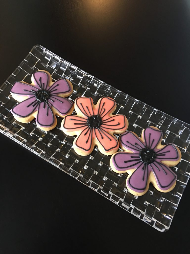 Springtime flower cookies
