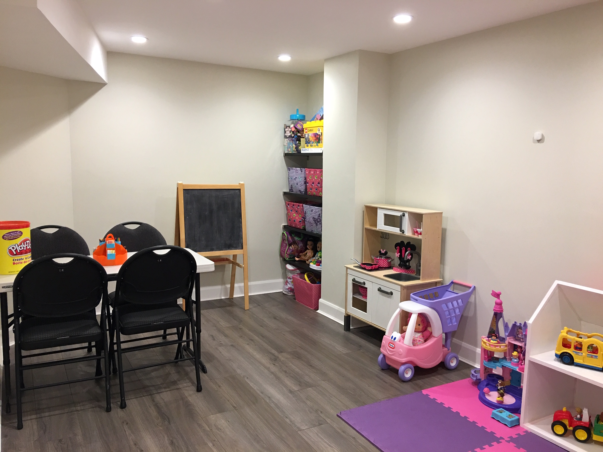Our basement playroom